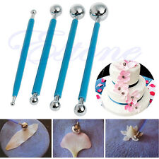 4Pcs Stainless Steel Double Sided Balls Modelling Tools For Fondant Cake Design