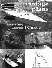 diy canadian open canoe paddle & motor mount & sail mount vintage plans