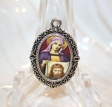 Silver Medal to add to Rosaries/Bracelets/Zipper Pulls/St. Veronica & Holy Face