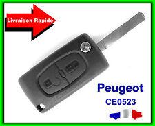 Carcasa De Telemando Peugeot 2 Botón 107 207 307 407 CE0523 Con Surco