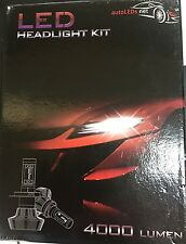 LED HEADLIGHT KIT 9003 H4 HIGH / LOW NEW 8000 LUMEN NO FAN 6000 kelvin WHITE