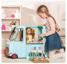 "Our Generation Sweet Stop Shop Blue Ice Cream Truck For American Girl 18"" Dolls"