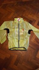 Castelli Fluorescent Yellow Rain Jacket Size Large (L)