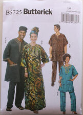 Misses/Mens TUNIC-CAFTAN-PANTS-HAT-HEADWRAP Butterick Pattern 5725 Sizes S-M-L