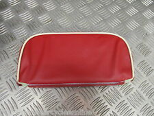 VESPA PX LAMBRETTA 125 REAR BACKREST CARRIER RACK PAD RED CREAM PIPING