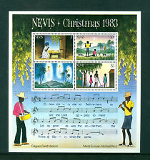 Nevis 1983, Christmas, Music, Souvenir Sheet, MNH