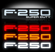 Ford Super duty F250 LED Lighted Fender Emblems 2008,2009,2010 By Recon BLACK