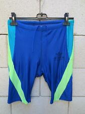 VINTAGE Collant court short running ADIDAS TORSION cuissard bleu 42