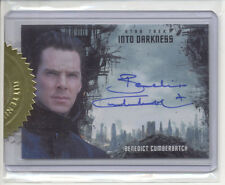 BENEDICT CUMBERBATCH STAR TREK MOVIES 2014 RITTENHOUSE INTO DARKNESS AUTOGRAPH