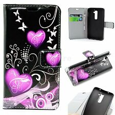 Flip Leather Pouch Card Wallet Slots Phone Silicone Case Cover For LG Optimus G2