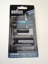 BRAUN MENS SHAVER FOIL & CUTTER COMBI PACK 1000 SERIES/FREECONTROL 10B