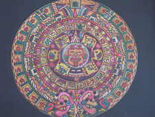 Micro Beads Mayan Calendar Mexico Framed Art (Signed By Artist)