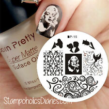 Marilyn Monroe Nail Art Stamping pochoir Template Image plaque BORN PRETTY15