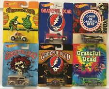 Hot Wheels Pop Culture Grateful Dead Set Of 6 - Dairy Volkswagen Bus Drag Truck