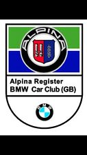 Classic ALPINA BMW Car Club GB Window Decal E9 E12 E21 E24 E28 E32 Repro