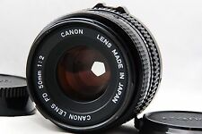 Canon NEW FD NFD 50mm F2 w/Front & Rear Cap Free/S [Very Good!!] #1120-4