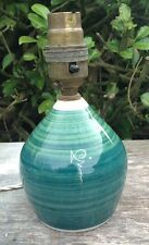Vintage Retro 1950s Green Kitsch Beckley Studio Pottery Table Lamp Working