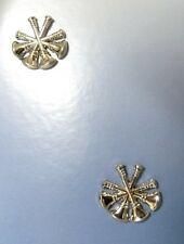 Deputy Fire Chief Collar Pin Device Set of 2 Tacs 4 Crossed Bugles Nickel Plated