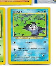POLIWAG - 62/75 – Pokemon – Neo Discovery Unlimited - NM - Buy more and save!