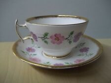 Vintage PHOENIX ENGLAND BONE CHINA Cup & Saucer FLORAL TR