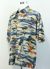 PIERRE CARDIN Men's ALOHA SHIRT 100% Cotton Hawaiian Cruise Short Sleeve Sz 2XL