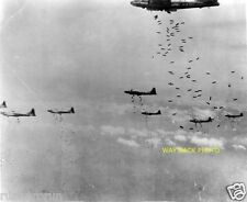 20th Air Force B-29's Dropping Bombs On Japan During WWII - REPRINT PHOTO
