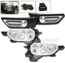 02 03 04 HONDA CR-V CRV EX LX JDM BUMPER CHROME FOG LIGHTS LAMP+COVER+SWITCH SET