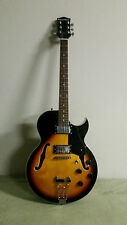 New 6 String Semi Hollow Body Archtop Tobacco Sunburst Finish Electric Guitar