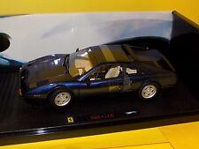 FERRARI 308 GTB  BLUE  ELITE HOTWHEELS T6924 1/18