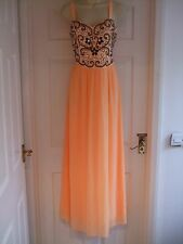 Fit size 14 womens maxi party dress Ladies Cocktail Occasion Embellished Summer
