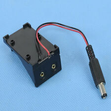 9V Battery Holder Box Case Wire with Plug 5.5*2.1mm for Arduino Brand New BG