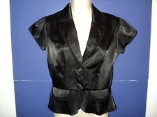 Morbid Threads Size S Blouse Top Black Short Sleeves Button Front Polyester