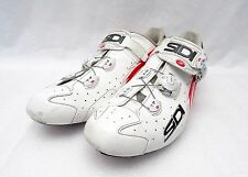 Sidi Vent Wire Carbon EU 47 White/Red Vernice Road Cycling Shoes, FREE S&H