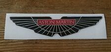 Aston Martin Wings Sticker/Decal -Red and Black HIGH GLOSS DOMED GEL FINISH