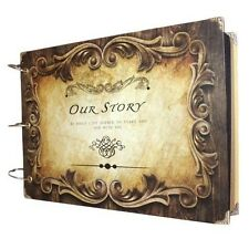 SiCoHome Scrapbook Album Our Story with Scrapbooking Storage and Scrapbooking
