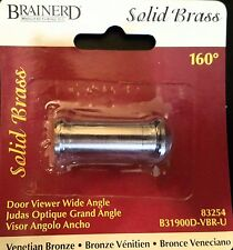 Brainerd - solid brass door viewer wide angle (peep hole)