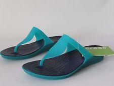 CROCS Rio Women's Teal/Navy Flip- Flops Sandals, size 7 NEW