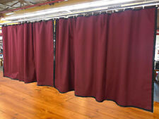 Lot of (2) New!! Burgundy Curtain/Stage Backdrop, Non-FR, 9 H x 15 W