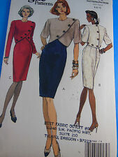 Vintage Classic Vogue Dress Pattern w Overlay UNCUT Factory folded Size 6-8-10