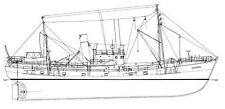 AACHEN BB 5 (1948), Fischdampfer. Bauplan