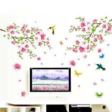 Removable Flower Blossom Butterfly Wall Sticker Vinyl Art Decal Home Room Decor