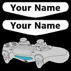 2 x White PS4 Controller Light Bar Custom Personalised Sticker PlayStation 4