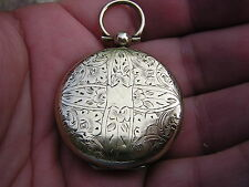 SCARCE ANTIQUE VICTORIAN VERY ORNATE GOLD FILLED 2 SIDED PHOTO LOCKET PENDANT
