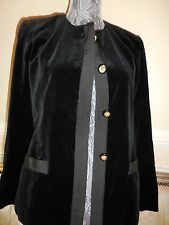 $4k vintage tux chanel velvet  blazer lion buttons--2011 winter