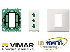 kit impianto vimar plana supporto scatola rotonda 14601 presa 14203 e placca 1 M