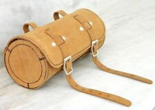 Real Leather Bicycle Saddle Bag Utility Round Tool bag bike Accessories.