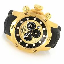 20443 Invicta 52mm Venom Sea Dragon Quartz Chronograph18KT Gold-Plated Watch