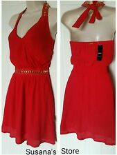NWT bebe embellished halte dress SZ XS Ultra SEXY A-MUST-HAVE THE PERFECT DRESS!