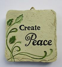 b Create Peace MINI PLAQUE fairy garden stepping stone Ganz Polystone