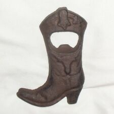Cast Iron Cowboy Boot Beer Bottle Opener Soda / Pop Opener Rustic Country Style